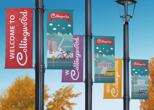 Collingwood BIA Logo and Street Banner