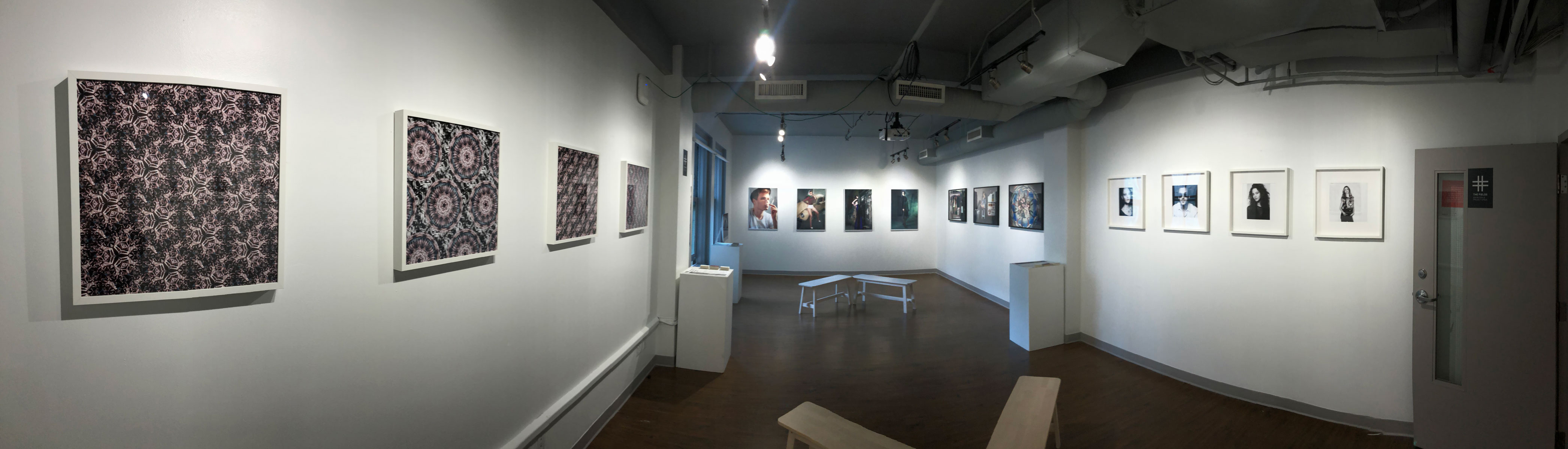 Open gallery space— Gustavo Chams' Meandering, Inflections and Angry Camels photography exhibition in Vancouver