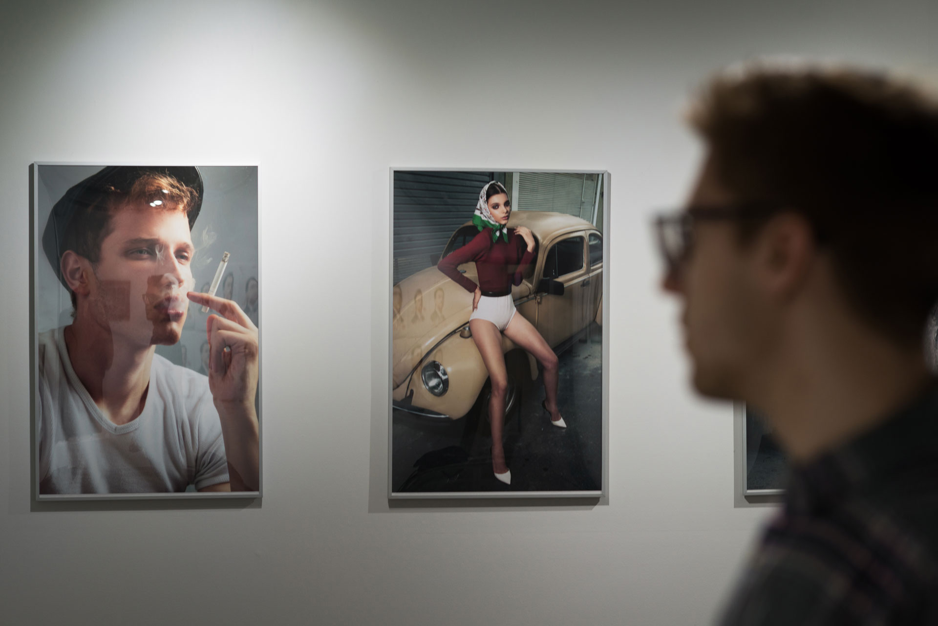 Andre Kherwald and Emily Sousa on display — Gustavo Chams' Meandering, Inflections and Angry Camels photography exhibition in Vancouver