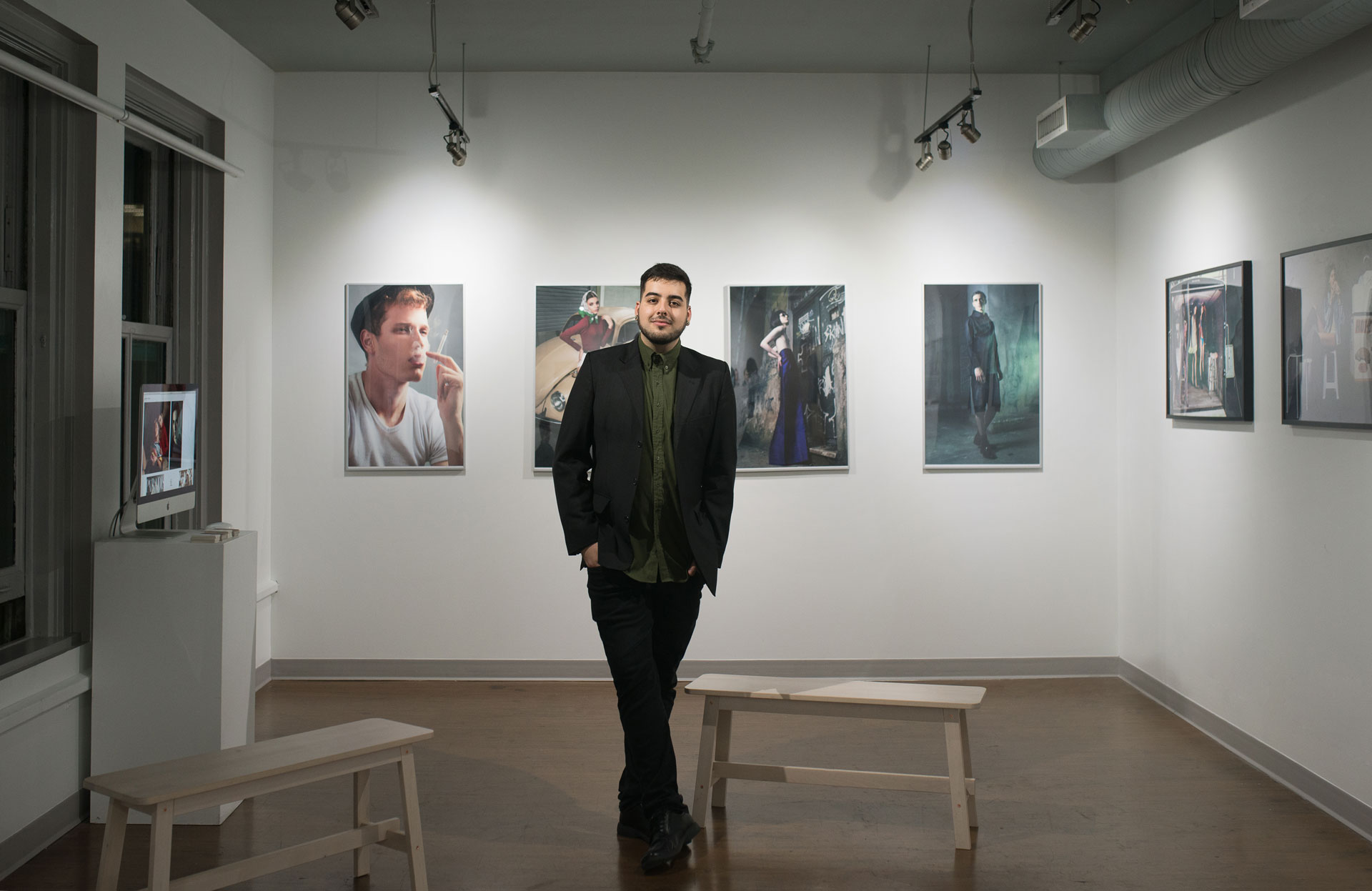 Gustavo Chams during Meandering, Inflections and Angry Camels photography exhibition
