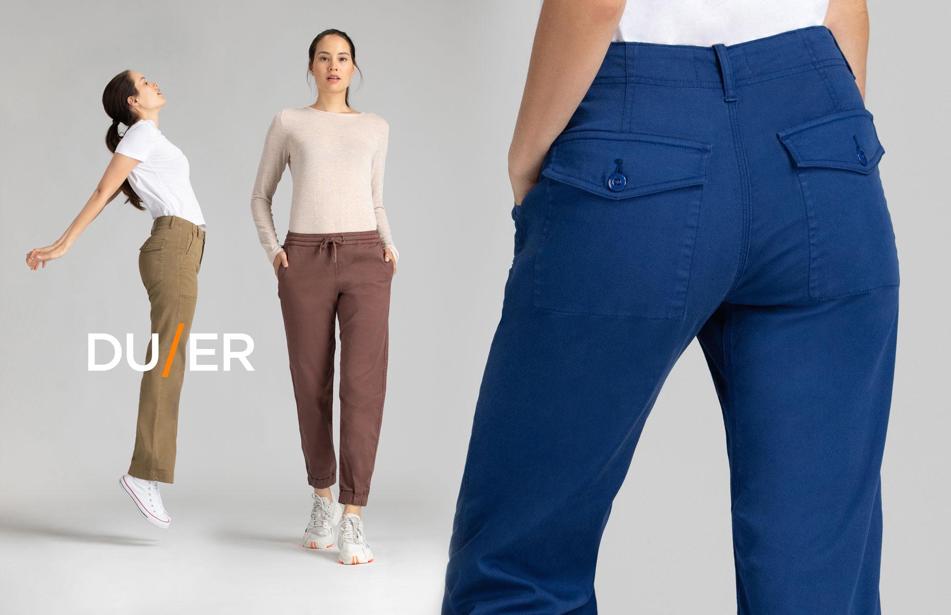 DUER pants fall winter 2020